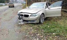 Перевернулся автомобиль марки BMW, пострадавшие доставлены в центральную больницу.